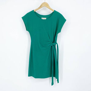 Anthropologie Side Tie Dress Teal Women's Small